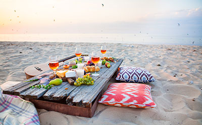 picnic at beach